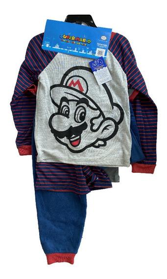 2 Pijamas Mario Bros Original 4pz Talla 3, 4 5 6 Y 7