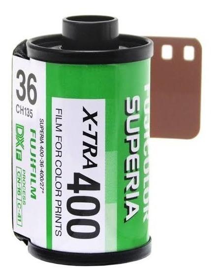 4 Filmes Fuji Superia X-tra 400 36 Exp 35mm Venc 03/2021
