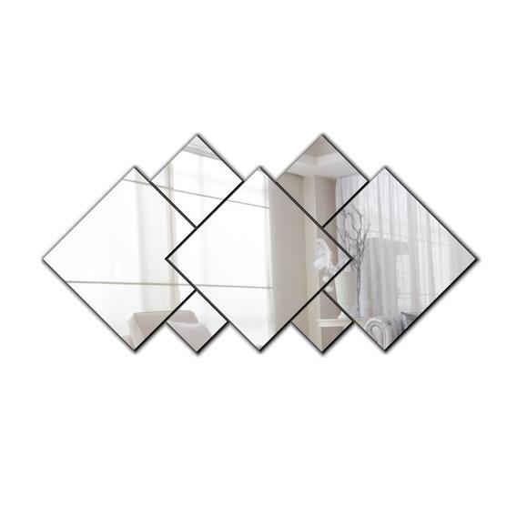 Espelho Decorativo Em Acrílico | 7 Peças Sala Quarto