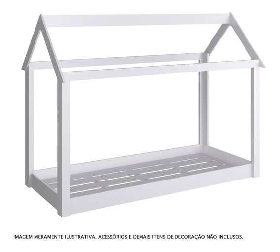 Cama Montessoriana - Branca - Completa Móveis