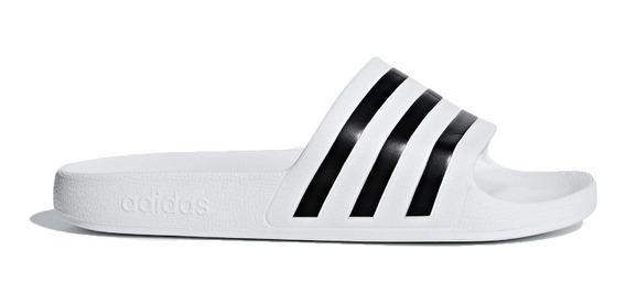 adidas Ojotas Lifestyle Unisex Adilette Aqua Blanco