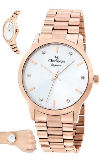 Relógio Champion Feminino Dourado Cód. Cn4057z