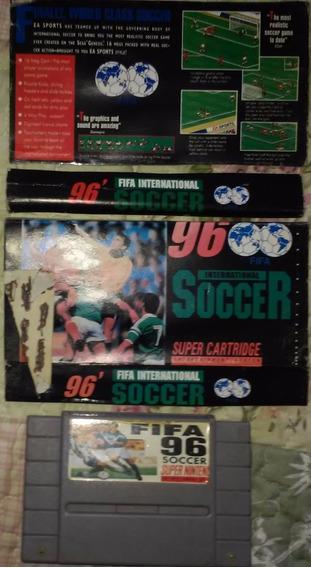 Cartucho Super Nintendo Fifa International Soccer 96 + Capa