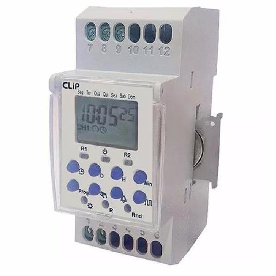 Programador Horário Clip Clb40 12v Novo Bateria Removível