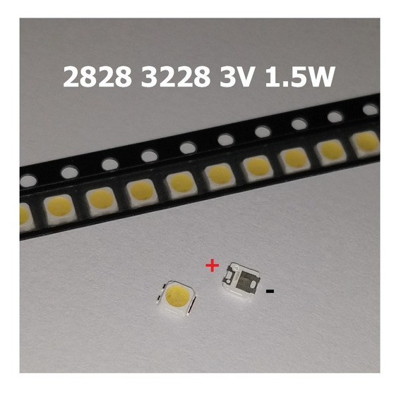 Led Tv 2828 3228 3v 1,5w Samsung Sony Sti Philco 50 Pcs