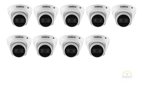Kit 12 Câmera Intelbras Vip 1020 D G2 Hd 720p 1mp Poe 2.8mm
