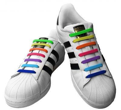Imagen 1 de 6 de Cordones De Silicon Unisex Adultos Y Niños. Zapatos Cotillon