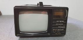Mini Tv Radio Portatil Antiga Hiltec