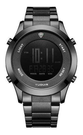 Relógio Masculino Tuguir Digital Preto Top De Linha +caixa