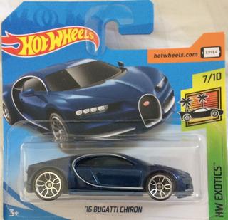 Hot Wheels Mainline 2019 - Bugatti Chiron 16 Cartela Curta