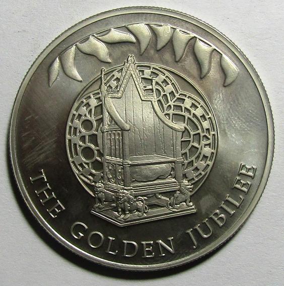 Islas Malvinas Moneda 50 Pence Ni Trono De Coronación 2002