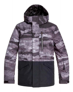 Campera Quiksilver Mission Block Ski Snow Niños Impermeable