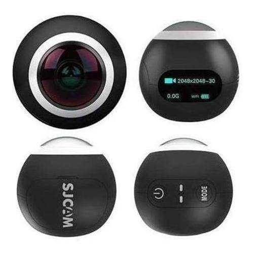 Camera Sjcam Sj360 Graus 2k Panorâmica Wifi Branca Ou Preta
