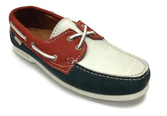 Zapatos Nauticos Pielsa Caballero Rojo Pi 0006 Corpez 44
