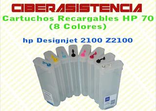 Cartuchos Recargables Hp 70 (8 Colores)