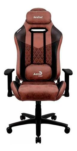 Imagen 1 de 3 de Silla de escritorio AeroCool Duke gamer ergonómica  punch red con tapizado de cuero sintético y piel sintética