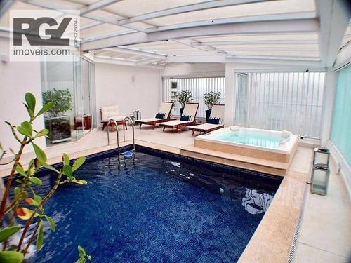 Imagem 1 de 19 de Cobertura Com 4 Dormitórios À Venda, 680 M² Por R$ 7.450.000,00 - Ponta Da Praia - Santos/sp - Co0218