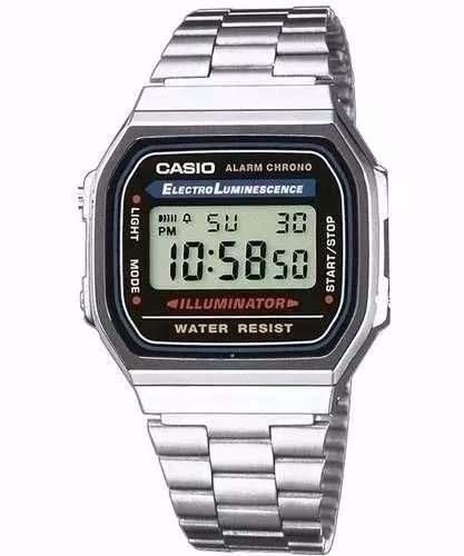 Relógio Csio Retro Vintage A168 Aço Inoxidavel Prata+caixa