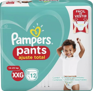 Pampers Pants Ajuste Total Talle Xxg 14 A 23 Kg X 24 Pañales