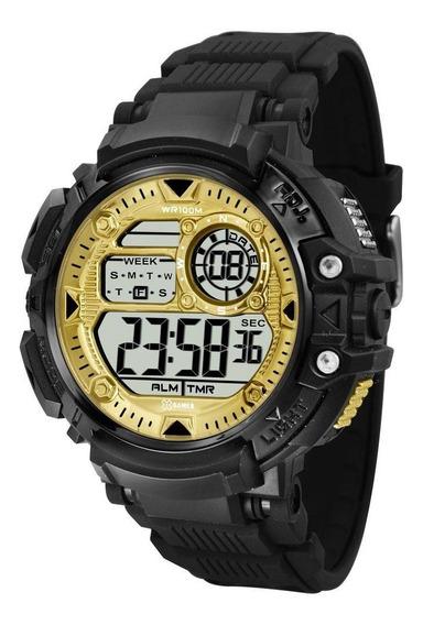 Relógio Masculino X-games Digital Xmppd476 - Preto/dourado