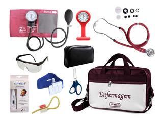 Kit Para Enfermagem Com Aparelho De Pressão Premium Cores