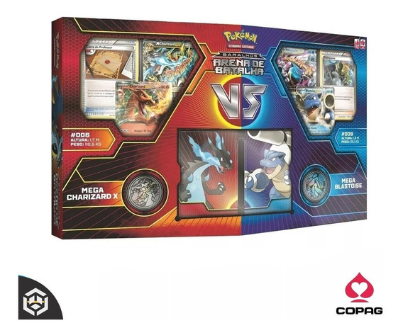 Box Pokemon - M Charizard Vs M Blastoise - Envio Imediato