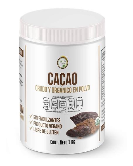Cacao En Polvo Premium 1 Kg. Certificado Orgánico Crudo