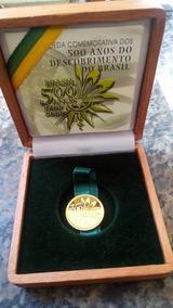 Moeda De Ouro 500 Anos Do Desc Do Brasil , 8 Gramas Completa