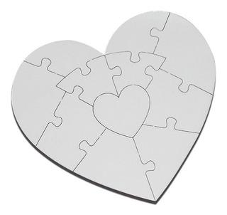 Rompecabezas Sublimable Sublimación Corazón Mdf ( 1 Juego)