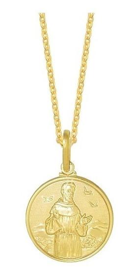 Cordão Feminino Com Medalha Pingente São Francisco De Assis