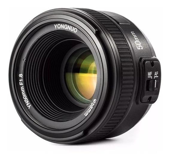 Lente Yongnuo Yn-50mm F/1.8n Para Nikon Frete Gratis