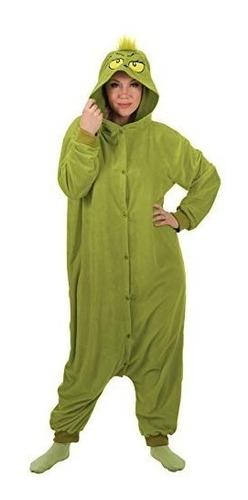 Imagenes De Grinch De Buenos Dias.Pijama Disfraz De Grinch Navidad Para Adultos Envio Gratis 5