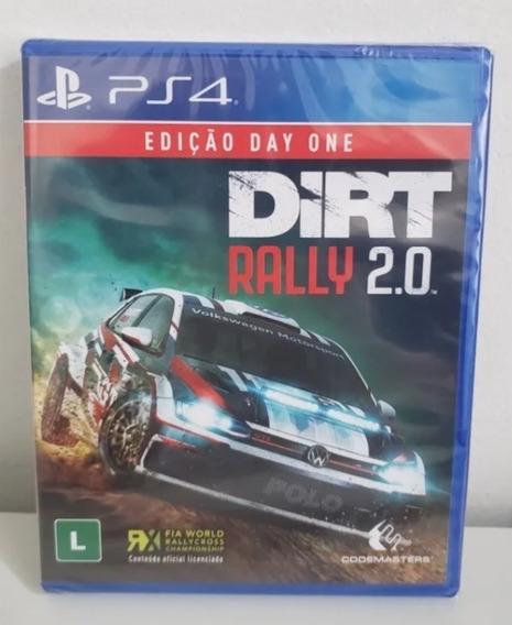 Jogo Playstation 4 Dirt Rally 2.0 Lacrado Mídia Física Pt Br
