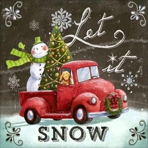 Deja Que Nieve Diamante Navidad Pintura Pigboss Artes D...