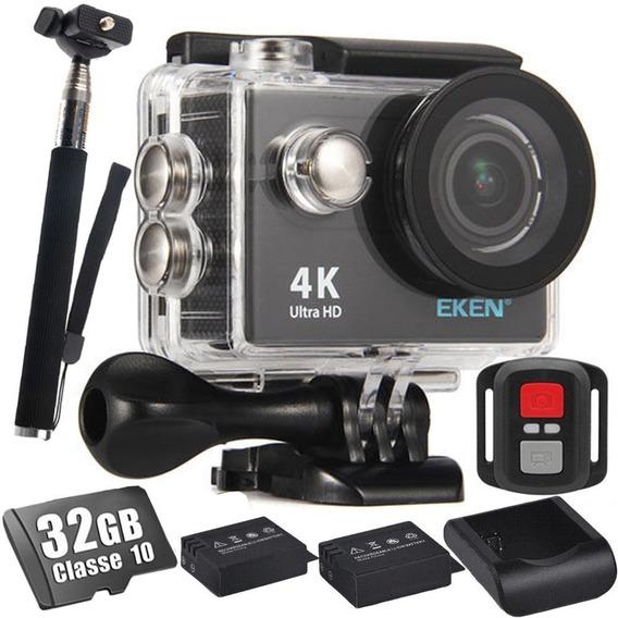 Câmera Eken H9r 4k + 32gb + Bastão + 2 Baterias + Carregador