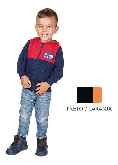 Roupa Infantil Menino Colete De Moletom Com Bolso E Recorte