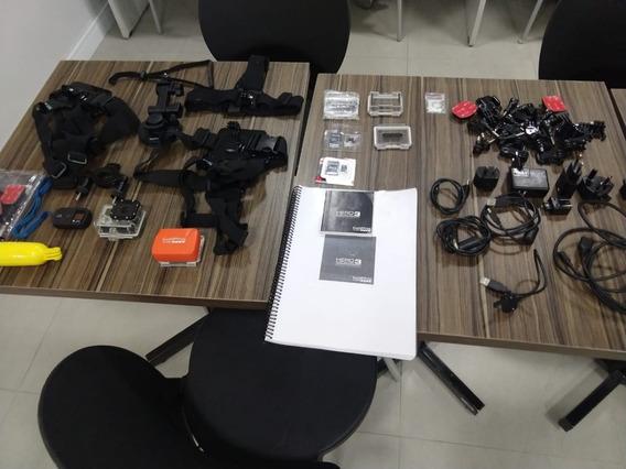 Câmera Filmadora Gopro Hero 3 Black Com Kit Acessórios Comp