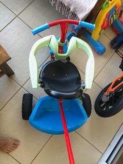 Carrinho Infantil Triciclo Pedal Azul Vermelho Smartplus