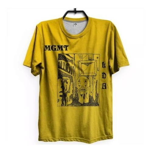 Camiseta Mgmt Indie Retrô Psicodélico Lançamento Eletro