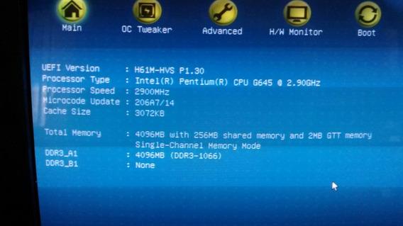 Desktop Computador 1155 Pentium 2.9 G450 4g Ram Hd500 Wd