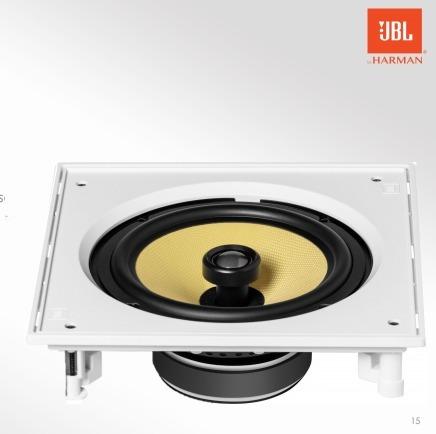 Caixa De Som Ambiente Para Embutir Jbl Ci8s Arandela