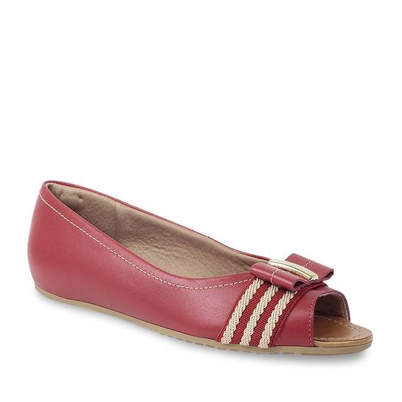 Sapato Peep Toe Usaflex Feminino Joanete Com Laço Ab9209