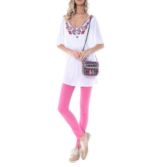Calça Skinny Pink Color - Rosa Chá