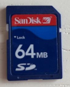 Cartão De Memória Sandisk 64 Mb