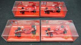 Lote De 4 Ferraris 1:64 Minichamps Schumacher Ñ Senna Piquet