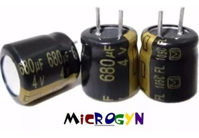 Capacitor Eletrolítico 680uf X 4v 105°c (8x8mm) (kit 20 Un.)