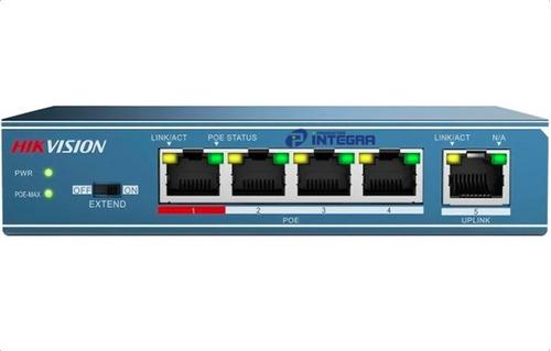 Switch Poe 4 Puertos Hikvision Camaras Ip Rj45 Ethernet