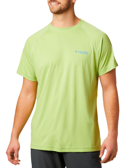 Playera Columbia Pesca Terminal Tackle Heather Verde