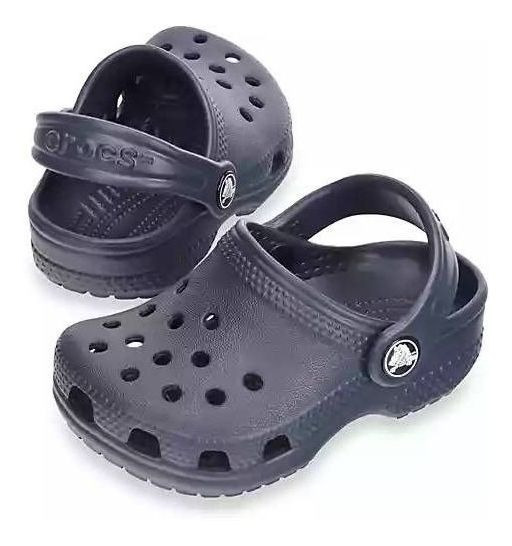Sandália Crocs Littles Navy Infantil Original + Nfe