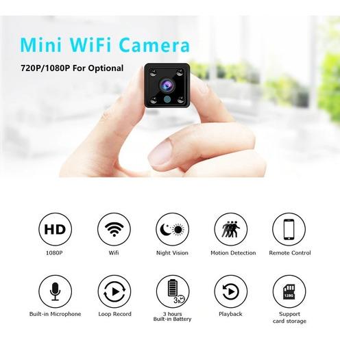 Mini Cámara Espía Hd Wifi 1080p Monitoreo En Vivo